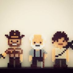 The Walking Dead perler beads by cee.choi