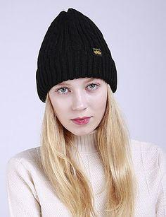 02eb992ec4b   8.99  Women s Active Acrylic Roman Knit Floppy Hat-Floral Braided Winter  Dark Gray Wine Khaki   Cute
