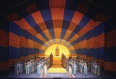 hockney magic flute   ... Magic Flute, with sets by David Hockney. From the Metropolitan Opera