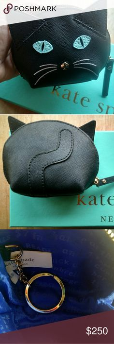 "♠Rare Authentic Kate Spade Cat's Meow Coin Purse♠ NWOT Authentic Kate Spade Cat's Meow Saffiano Leather Coin Purse! Very Rare! Absolutely In Perfect Condition! No Imperfections! Just Like New!! Crosshatched Leather With Smooth Leather Trim. Custom Quick And Curious Lining. Coin Purse With Zip Top Closure. Jump Ring With Link Chain. Style # pwru4425 Imported 3.1"" (H) X 4.3"" (W) I Have A Brand New With Tags Authentic Kate Spade Cat's Meow Saffiano Leather Cross Body Purse Available In My…"