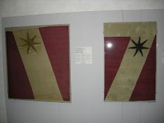 The banner of Thun in the Battle of Dornach (1499) Fine silk taffeta