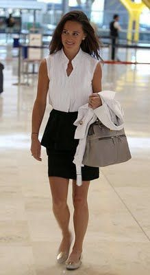Pippa Middleton. love the work outfit. add a suit jacket & you're good to go.