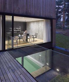 Strandhaus in Beton und Holz - Minimalismus und skandinavisches Design