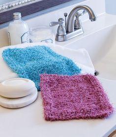 Simple Knit Scrubby Washcloth