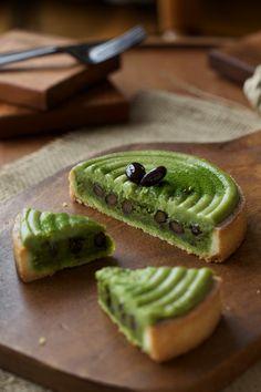 Green Tea tart black beans and sweet potatoes - http://lovjub.exblog.jp/17269438/