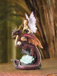 Fairy Maiden Dragon Rider Figurine $19.95