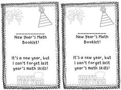 New Year's Common Core Math Booklet  5th grade{All Common Core Stand