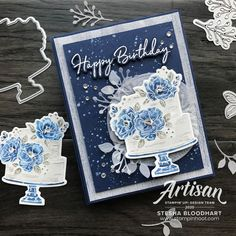 Happiness 474144667021200502 - Stampin' Up! Birthday Dies 153590 Coordination Happy Birthday To You Sale-A-Bration Stamp Set_Stesha Stampin' Up! Artisan Design Team Source by afgutton Happy Birthday To You, Happpy Birthday, Happy Birthday Cakes, Tarjetas Stampin Up, Mary Fish, Birthday Cake Card, Stampin Pretty, Stampin Up Catalog, Stamping Up Cards