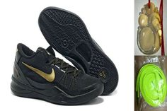 separation shoes b224d 9d381 Wholesale Cheap Nike Kobe 8 System Black Gold 586590 302 with Chalcedony  Pendant   Volt Lace