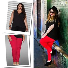 red pants #plussize #zuya #eusouzuya