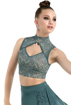 Lace Crop Top With Keyhole | Balera™