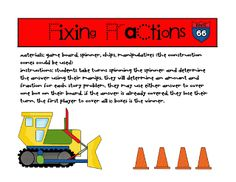 Do your kiddos need a little help with their fractions? Or perhaps you're just looking for an idea to spice up fraction practice in your math centers. Either way, this Fixing Fractions game provided. Math Games, Math Activities, Fraction Activities, Route 66, Fraction Word Problems, Teacher Forms, Fraction Games, Math Magic, Math Fractions