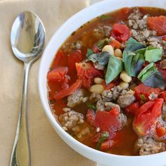 Recipe:  Sausage and White Bean Slow Cooker Soup