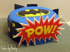 Batman Comic Birthday cake  By: Cakes by Becky