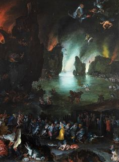 jaded-mandarin:  Jan Brueghel The Elder. Detail from Aeneas and Sibyl in the Underworld, 1594.