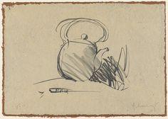 Claes Oldenburg (American, b. Tea Pot, 1975 Lithograph on Balinese brown paper mounted on Moriki Japanese - Available at 2015 November 14 Modern &. Modern Art, Contemporary Art, Claes Oldenburg, Art Institute Of Chicago, Soft Sculpture, Public Art, Installation Art, Pop Art, Tea Pots