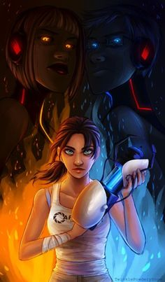 Chell, Wheatley and GLaDOS    (P.S. wheatley & GLaDOS are not humans in the game)