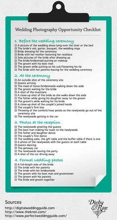 Photography Check List
