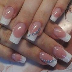 French nails images to help you choose nail designs - wedding nails french nails pattern - French Nails, French Acrylic Nails, French Manicure Nails, Gel Nails, Nail Polish, French Polish, French Manicure Designs, Coffin Nails, Cute Nail Art Designs