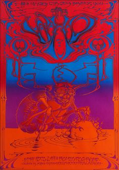 The Who/Poco/The Bonzo Dog Band, June 13, 1969 - Hollywood Palladium (Hollywood, CA) Artist Rick Griffin