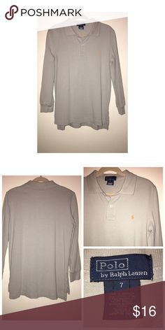 Ralph Lauren LS Polo Shirt Like•New Ralph Lauren LS Polo • Size 7 • In excellent condition, no signs of wear Ralph Lauren Shirts & Tops Polos