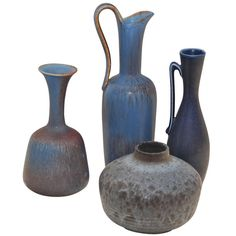 Valerie Boster Bookings Editor at Vogue:  Set of Four Vases by Gunnar Nylund
