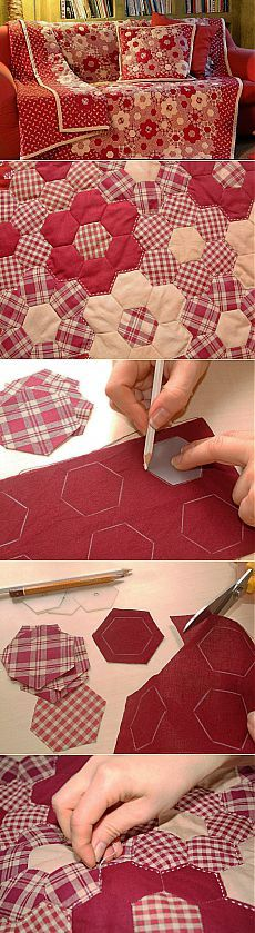 42 Ideas For Patchwork Quilt Patterns Ideas Beautiful Colchas Quilting, Quilting Projects, Quilting Designs, Sewing Projects, Hexagon Quilting, Hexagon Quilt Pattern, Quilting Ideas, Hexagon Patchwork, Patchwork Quilt Patterns