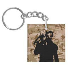 Daryl Dixon Dixon Crossbow  Norman Reedus The walking dead Camo Desert  Acrylic keychain