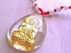 BUDDHA 18kt Gold Relief Kette Collier verstellbar von Kleines Karma - Natur & Trend Schmuck, Ketten & Colliers, Uhren, Accessoires und Geschenke aus Berlin auf DaWanda.com