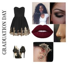 """""""YES BIATCH"""" by makayla-ryker ❤ liked on Polyvore featuring TFNC, La Perla and Graduation"""