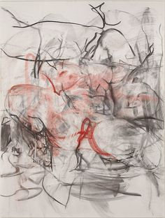 Jenny Saville (British, b. 1970), Reflective Flesh study (Red), 2015. Charcoal and pastel on paper mounted on board, 200 × 152 cm.