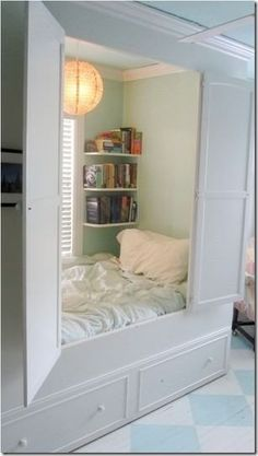 Kids Reading Nook in Closet