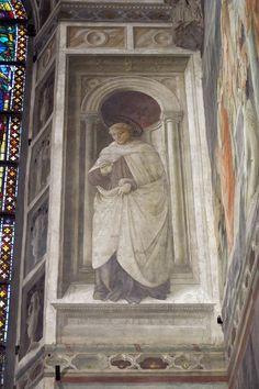 FILIPPO LIPPI (Fra) -  Sant'Alberto - affresco - 1452-1465 - Cappella Maggiore, Cattedrale di Santo Stefano, Prato
