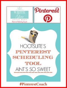 "HOOTSUITE'S PINTEREST SCHEDULING TOOL AIN'T SO SWEET: #PinterestCoach says ""When I first heard that HootSuite offered a Pinterest Scheduling Tool I was excited however upon further review I went from yeeha to oh my!"" Here's why http://www.whiteglovesocialmedia.com/pinterest-consultant-hootsuites-pinterest-scheduling-tool-aint-so-sweet/ ✭#PinterestMarketingExpert✭"