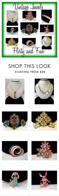 """""""Vintage Jewels are Fun!"""" by anne-ficarella on Polyvore featuring vintage"""