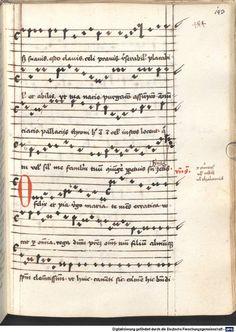 Cantionale, Geistliche Lieder mit Melodien. Münchner Marienklage Tegernsee, 3. Drittel 15. Jh. Cgm 716  Folio 143