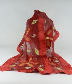 Silk and Wool Nuno-Felted Shawl