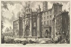 Giovanni Battista Piranesi | View of the Façade of the Basilica of S. Croce in Gerusalemme [the Holy Cross in Jerusalem], from Vedute di Roma (Roman Views) | The Met