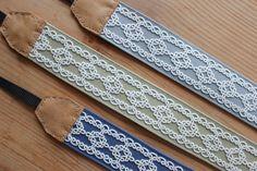 ネイビーの帆布のペンケース の画像 kinari タティングレース てしごと日記