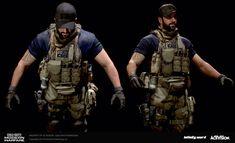 Combat Suit, Combat Armor, Combat Gear, Black Butler, M4 Carbine, Rainbow Six Siege Art, Military Action Figures, 3d Model Character, Armor Concept