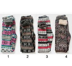 Winter leggings !!! I so have like 5 of these I'm addicted!!! To this leggings !