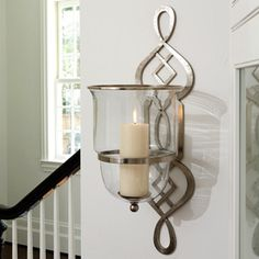 Grand Fretwork Hurricane Wall Sconce from Modern Chic Home, wall decor, interiors