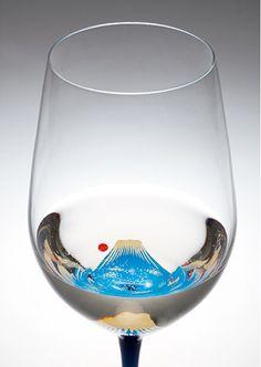 [丸三漆器] 富士山おめでたワイングラス