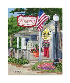 """Local Treats"" reproduction print of an acrylic painting by Barb Timmerman."
