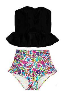 Peplum Swimsuit, Pin Up Swimsuit, Bikini Set, High Rise Bikini, Swimsuits, Swimwear, Bathing Suits, Beachwear, Trending Outfits