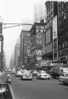 New York, Broadway in April 1961 by paulineandjohng2008, via Flickr