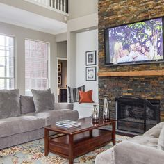 Family Room | Rowlett Lakehouse Staged to DWELL | Michelle Lynne INTERIORS Group