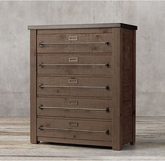 Restoration Hardware - Early 20th C. Mercantile 5-drawer Narrow Dresser