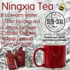 Yummy - Ningxia Tea.  I'd like to try this one with dried wolfberries!   www.BarbsOils.com