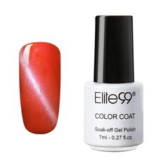 Qimisi UV LED 3D Cat Eye Effect Nail Gel Polish Magnetic Soak Off Varnish 6555 Salmon * For more information, visit image link.